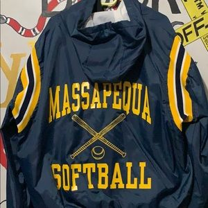 Vintage Jackets & Coats - Vintage softball half wiped windbreaker